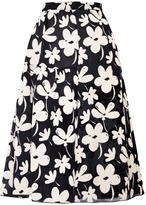 Marni Preorder Gauze Ink Flowers Full Skirt