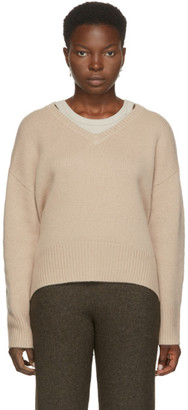 Arch4 Off-White Cashmere Battersea V-Neck Sweater