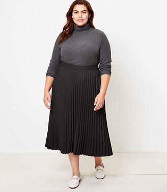 LOFT Plus Melange Pleated Skirt