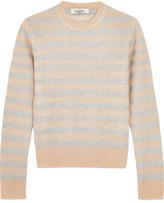 Valentino Metallic Striped Knitted Sweater - Beige