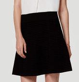 LOFT Textured Sweater Flippy Skirt