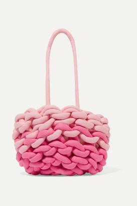 Alienina Kids - Two-tone Woven Organic Cotton Bucket Bag - Pink