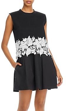 Derek Lam 10 Crosby Lea Lace Trim Dress