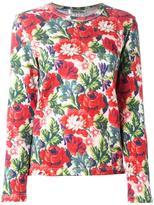 Comme Des Garçons floral print sweats
