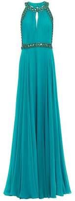 Jenny Packham Open-back Embellished Silk-georgette Gown