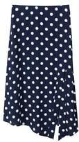 MANGO Polka-dot asymetric skirt