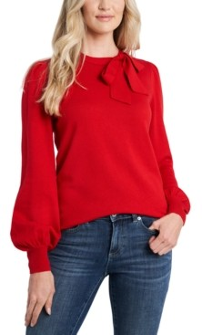 CeCe Solid Bow Sweater