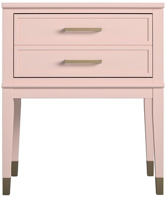 CosmoLiving by Cosmopolitan Westerleigh Side Table- Pink/Gold