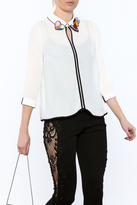 Moon Collection Embellished Collar Blouse
