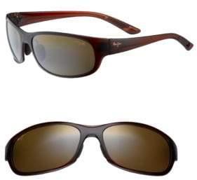 Maui Jim Twin Falls Rounded Polarized Rectangular Sunglasses