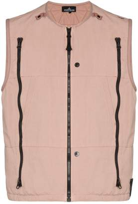 Stone Island Shadow Project zip-detailed vest