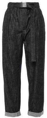 Brunello Cucinelli Belted Pleated Boyfriend Jeans