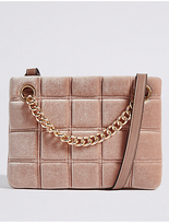 M&S Collection Faux Leather Chain Shoulder Bag