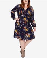 Lucky Brand Trendy Plus Size Peasant Dress