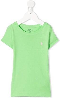 Ralph Lauren Kids logo-embroidered T-shirt