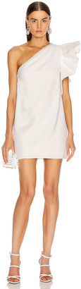 Self-Portrait Self Portrait One Shoulder Ruffle Dress in Ivory | FWRD