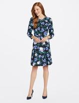 Draper James Floral Smocked Sleeve Dress