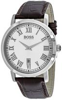 HUGO BOSS Classic 1513142 Men's Round Brown Leather Watch