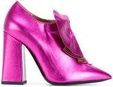 Pollini ruffled booties - women - Calf Leather/Leather - 36