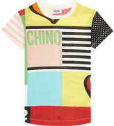 Moschino Patchwork Cotton Maxi T-shirt 4-14 Years