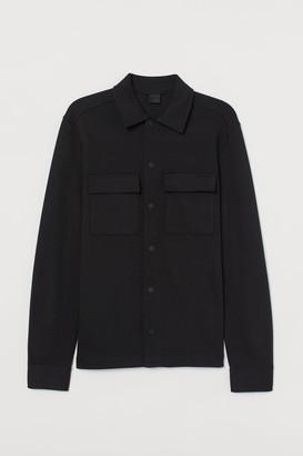 H&M Jersey Shirt Jacket - Black