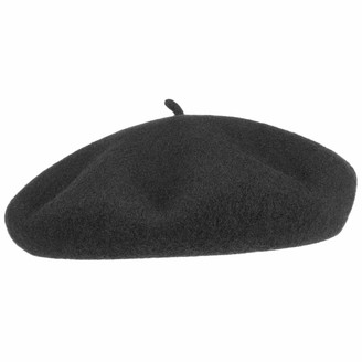 Barascon Beret with Cashmere and Lining Basque Womens (60 cm - Black)