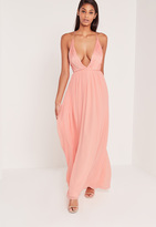 Missguided Carli Bybel Pleated Silky Maxi Dress Pink
