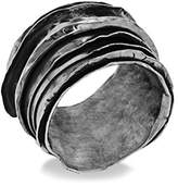 Emanuele Bicocchi Unisex 925 Sterling Silver Wrapped Ring - Size U