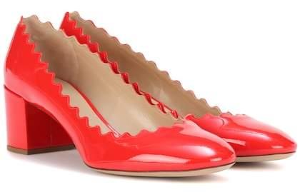 Chloé Lauren patent leather pumps
