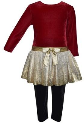 Online Velvet and Metallic Tunic & Legging, 2-Piece Outfit Set, Sizes 4-6x