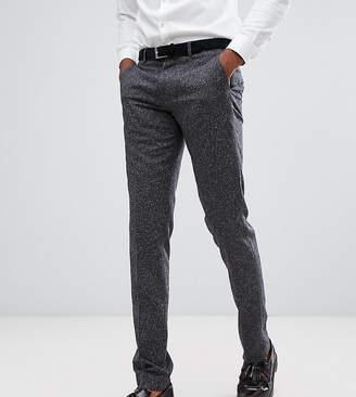 Farah Smart TALL Skinny Wedding Suit Trousers In Fleck-Grey