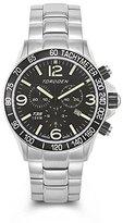 Torgoen Pilot T35 Series T35201 45.5mm Stainless Steel Case Steel Bracelet Mineral Men's Watch