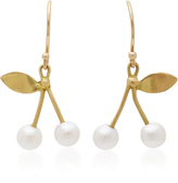 Annette Ferdinandsen 18K Gold Pearl Cherry Earrings