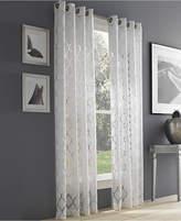 J Queen New York Geneva White Semi-Sheer Grommet Curtain Panel Collection