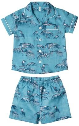 Desmond & Dempsey Kids Printed Cotton Pyjama Set (2-9 Years)