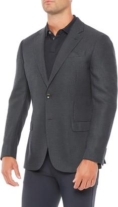 Emporio Armani Navy Pin Dot Sport Coat