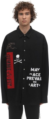 Mastermind Japan Embroidered Cotton Shirt