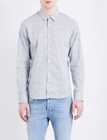 Sandro Floral regular-fit spread-collar pure-cotton shirt