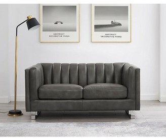 Walbourne Leather Loveseat Orren Ellis