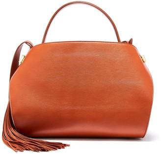 Oscar de la Renta Cognac Leather Nolo Bag
