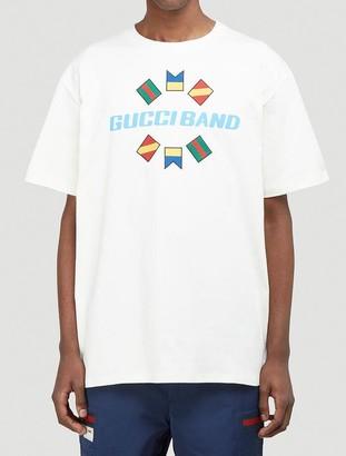 Gucci Band Logo Printed T-Shirt