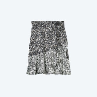 Summersalt The Short Beach to Brunch Wrap Skirt - In Bloom in Sea Urchin