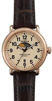Shinola 41mm Runwell Moon Phase Watch, Brown