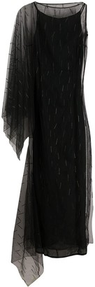 Gianfranco Ferré Pre Owned 1990s Embroidered Tulle Evening Dress