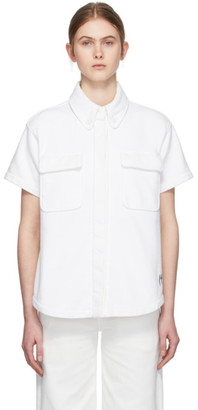 MM6 MAISON MARGIELA White Towelling Two Pocket Short Sleeve Shirt