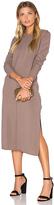 Michael Stars Blend Slit Sweater Midi Dress