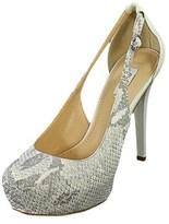 GUESS Jacoba Women Open Toe Synthetic White Platform Heel.