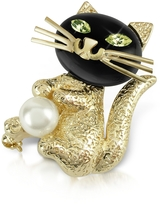A-Z Collection Green-Eyed Cat Pin