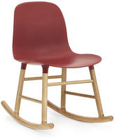 Normann Copenhagen Form Rocking Chair Red/Oak