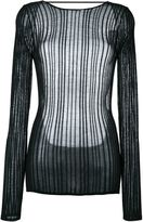 Anthony Vaccarello sheer knitted top